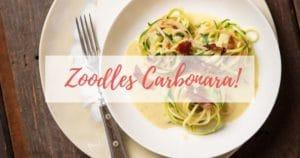Zoodles Carbonara - gesunde Spaghetti Carbonara
