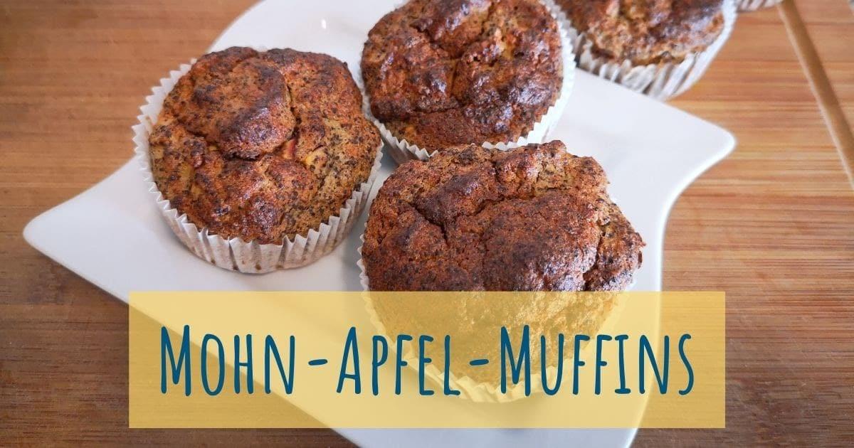 Gesunde Mohn-Apfel-Muffins ohne Mehl