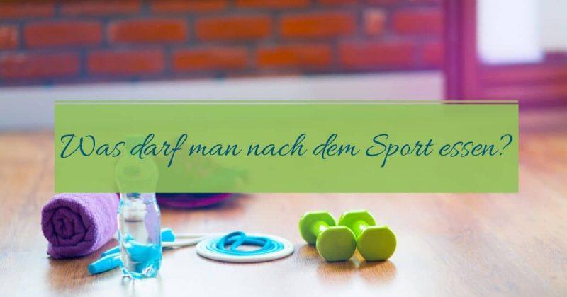 Was darf man nach dem Sport essen